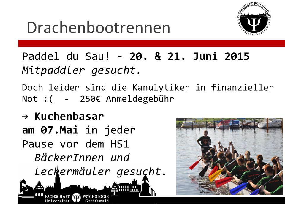 Drachenbootrennen Paddel du Sau! - 20. & 21. Juni 2015