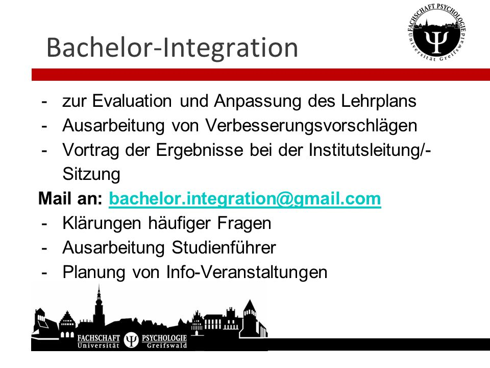 Bachelor-Integration