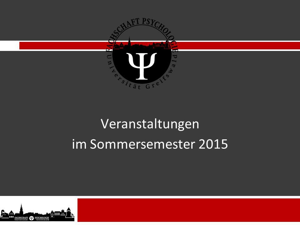 Veranstaltungen im Sommersemester 2015