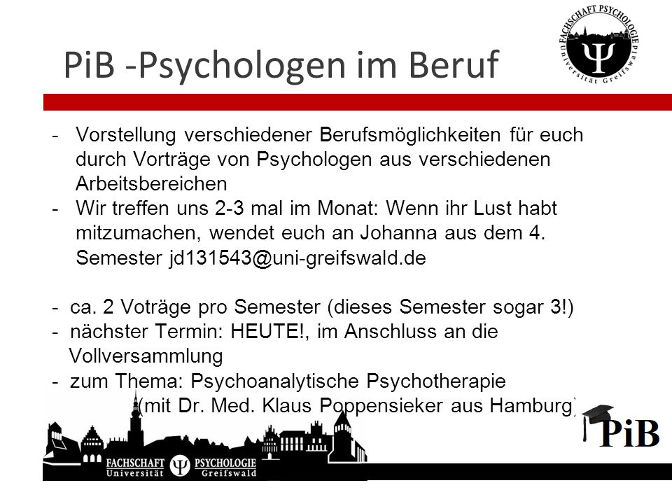 PiB -Psychologen im Beruf