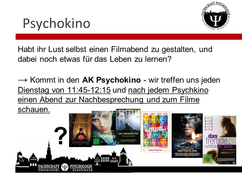 Psychokino Habt ihr Lust selbst einen Filmabend zu gestalten, und dabei noch etwas für das Leben zu lernen