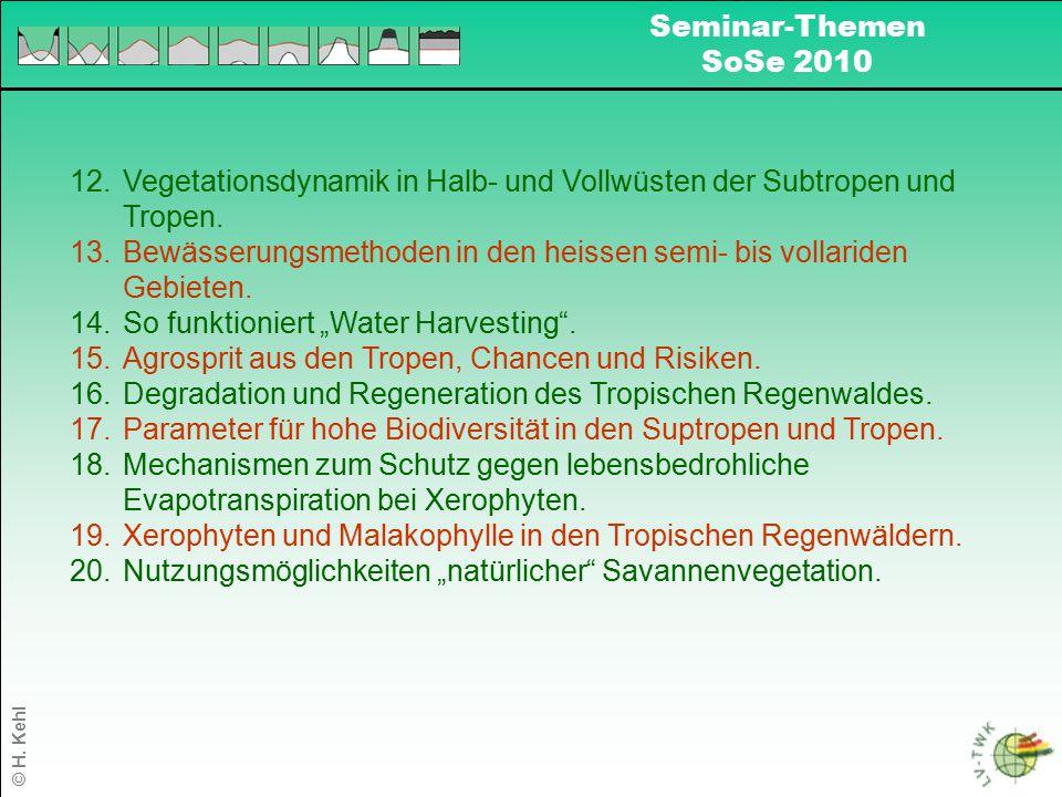 Vegetationsdynamik in Halb- und Vollwüsten der Subtropen und Tropen.