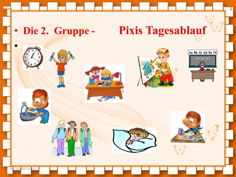 Die 2. Gruppe - Pixis Tagesablauf