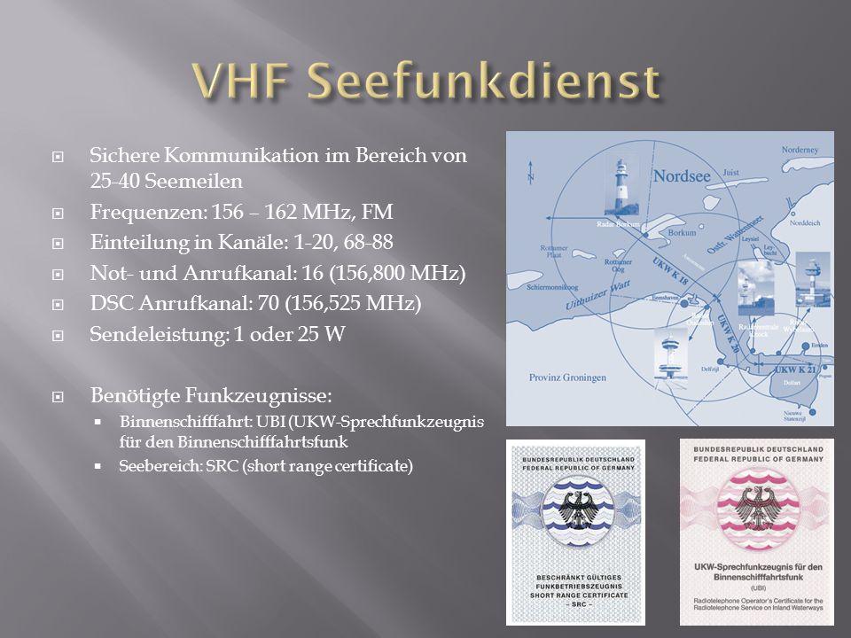 VHF Seefunkdienst Sichere Kommunikation im Bereich von 25-40 Seemeilen