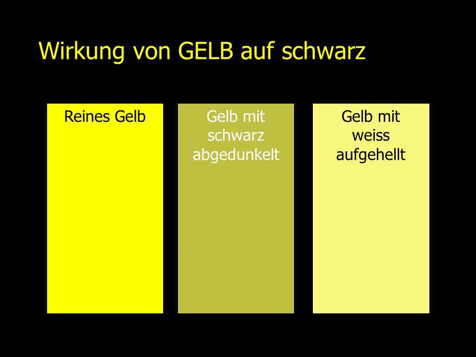 Wirkung von GELB auf schwarz