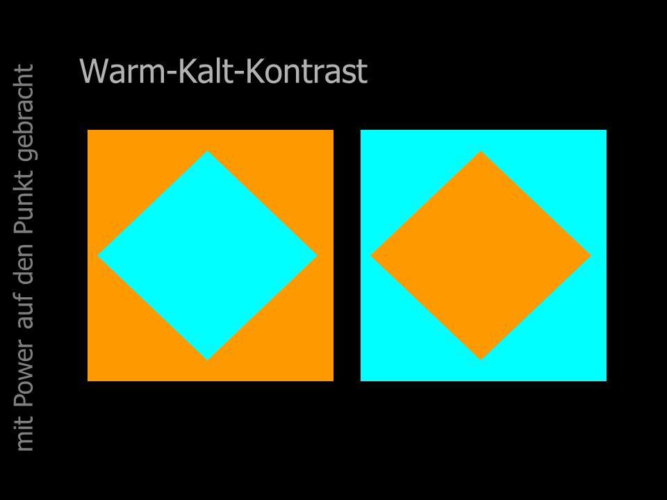 Warm-Kalt-Kontrast