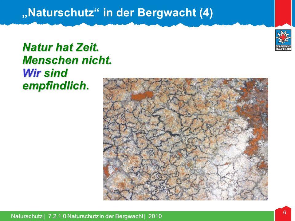 """Naturschutz in der Bergwacht (4)"