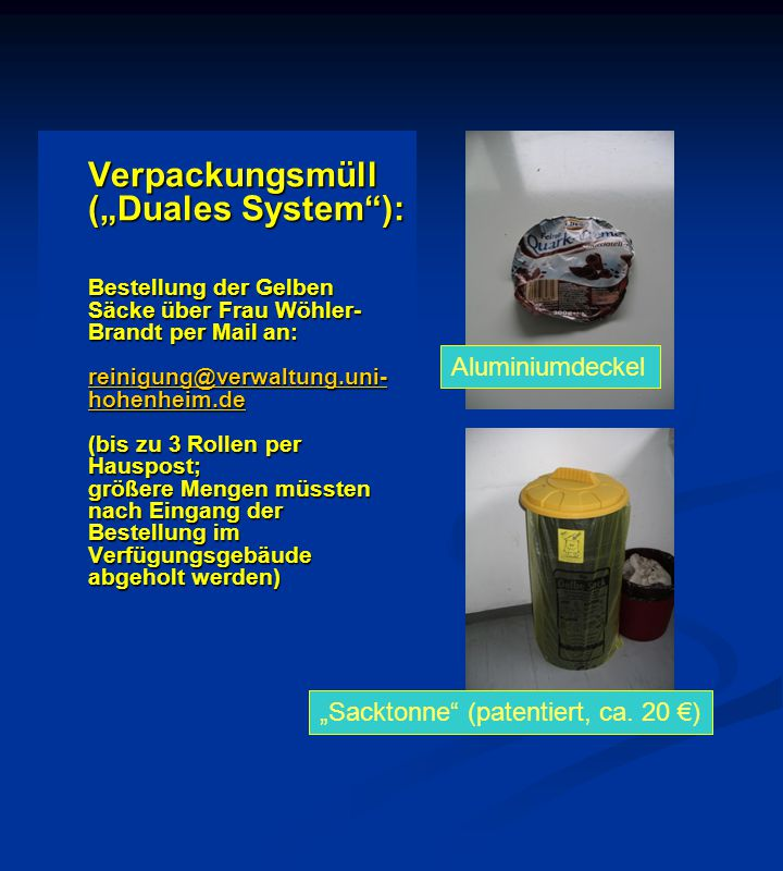 """Sacktonne (patentiert, ca. 20 €)"