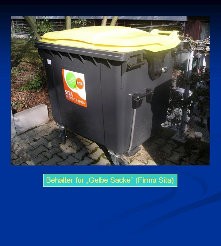 """Behälter für """"Gelbe Säcke (Firma Sita)"""