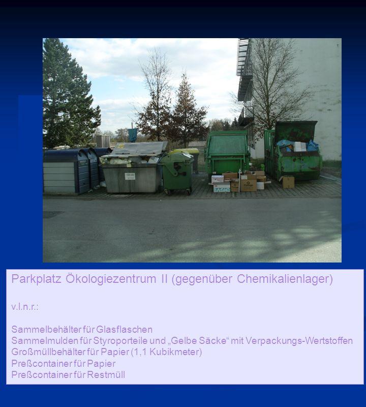 Parkplatz Ökologiezentrum II (gegenüber Chemikalienlager)