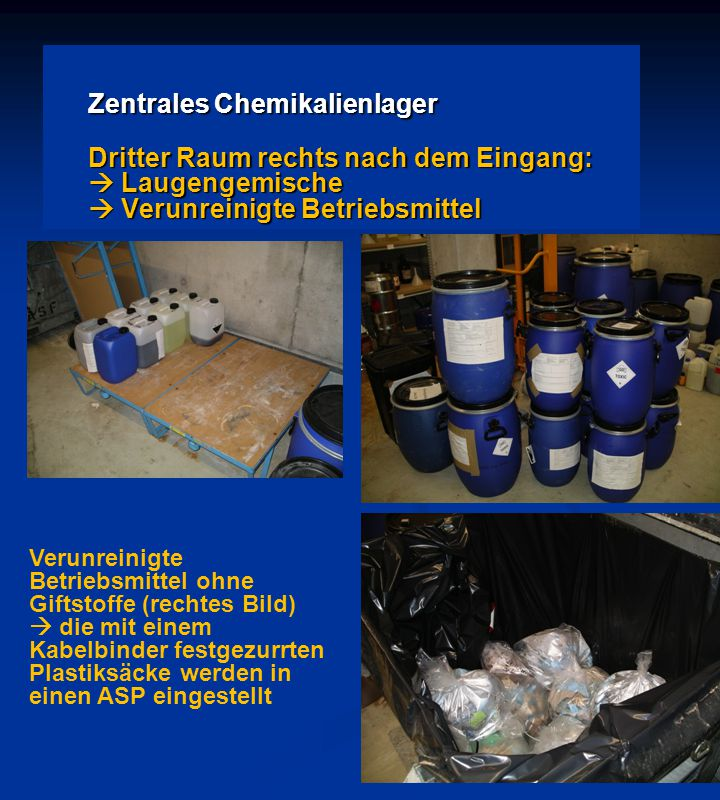 Zentrales Chemikalienlager