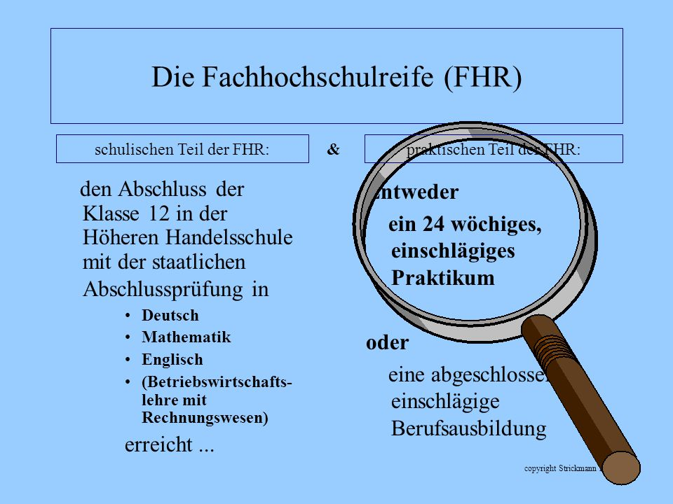 Die Fachhochschulreife (FHR)