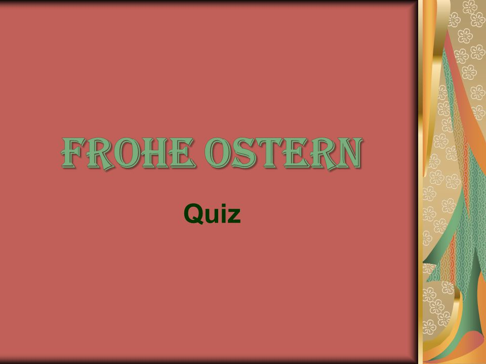 Frohe Ostern Quiz