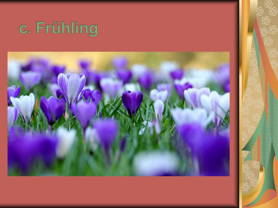 c. Frühling