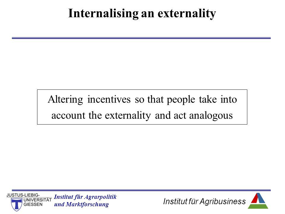 Internalising an externality
