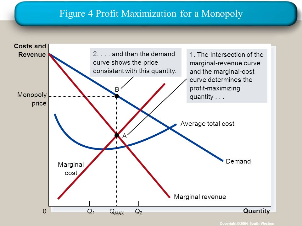 Figure 4 Profit Maximization for a Monopoly