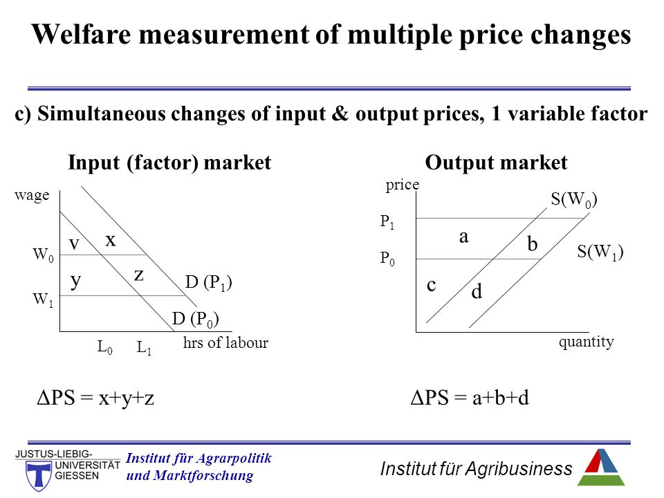Welfare measurement of multiple price changes
