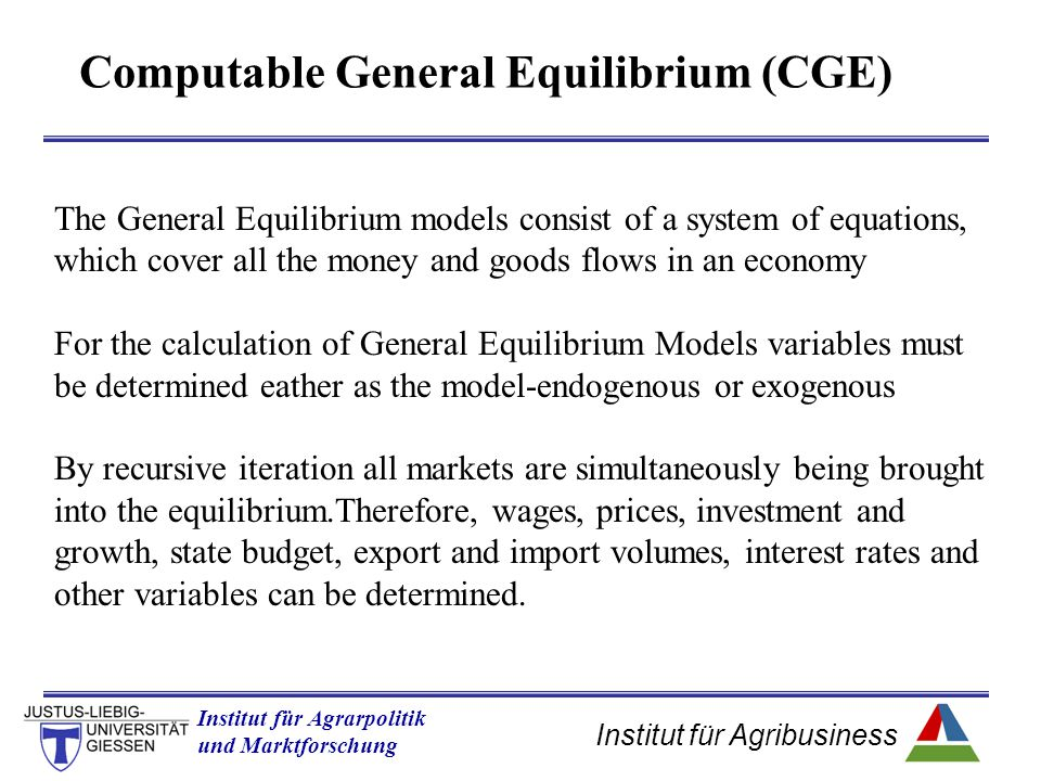 Computable General Equilibrium (CGE)