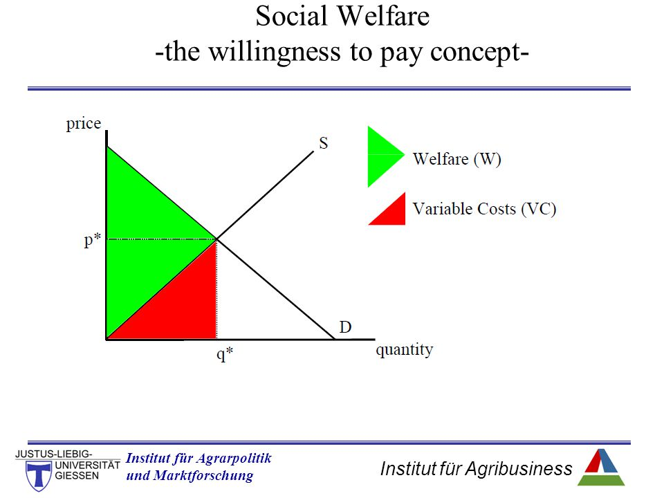 Social Welfare -the willingness to pay concept-