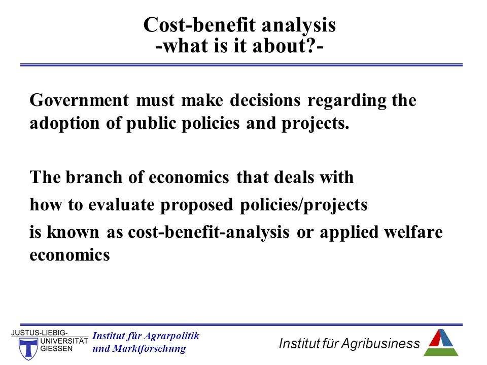 Cost-benefit analysis -what is it about -