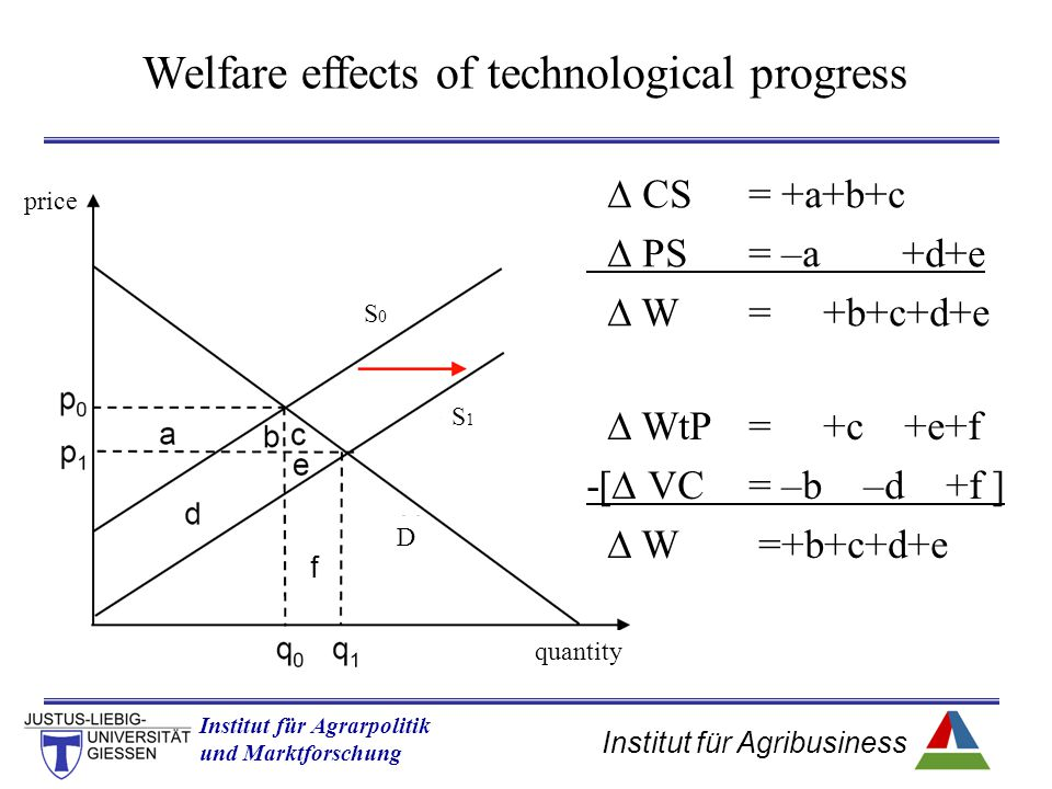 Welfare effects of technological progress