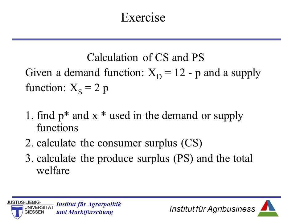 Calculation of CS and PS
