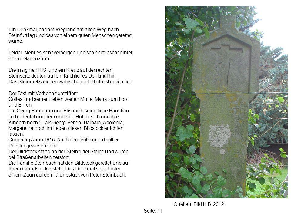 Ein Denkmal, das am Wegrand am alten Weg nach Steinfurt lag und das von einem guten Menschen gerettet wurde.