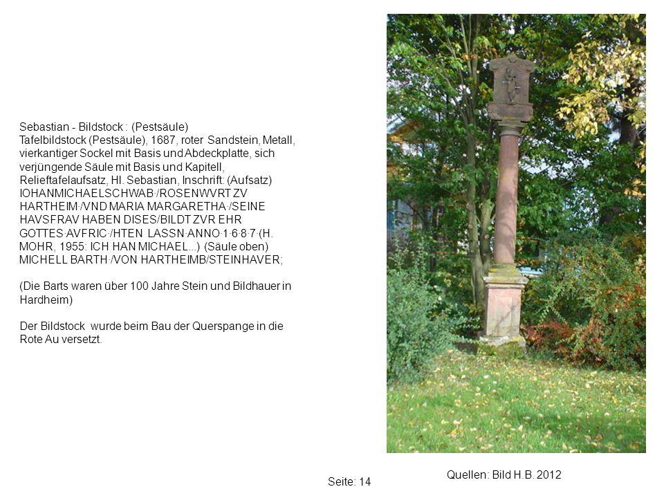 Sebastian - Bildstock : (Pestsäule)