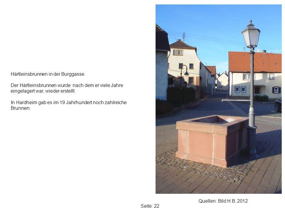 Härtleinsbrunnen in der Burggasse: