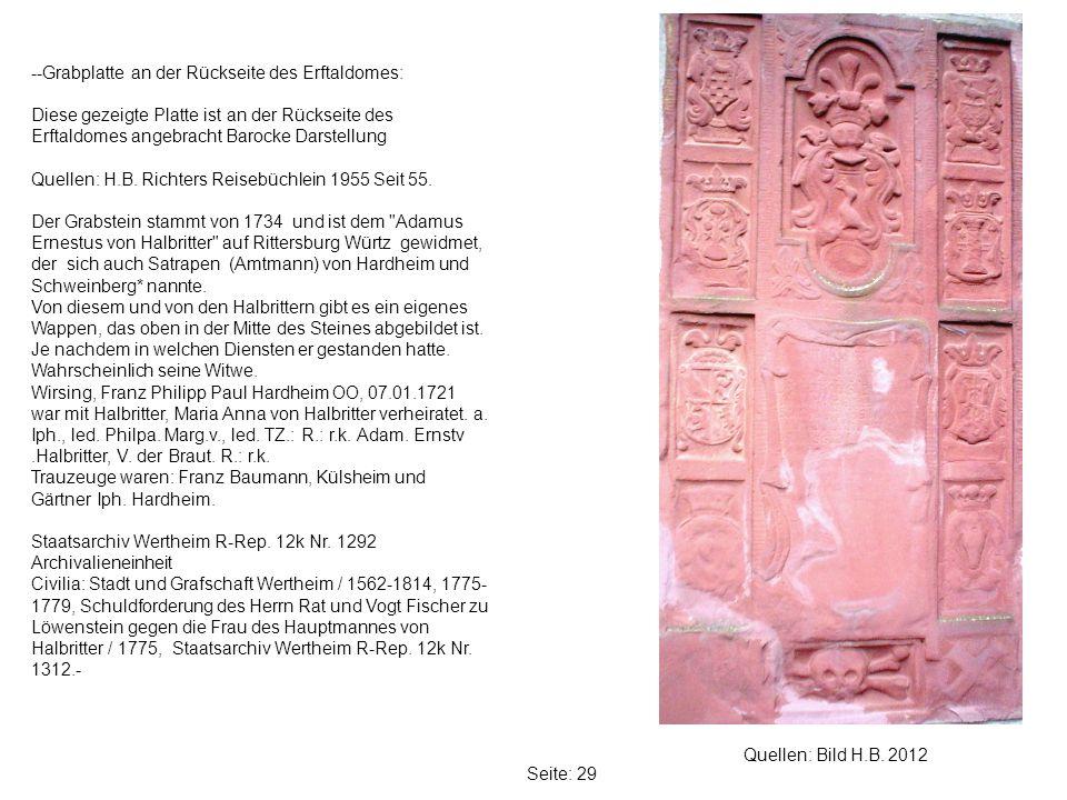 --Grabplatte an der Rückseite des Erftaldomes: