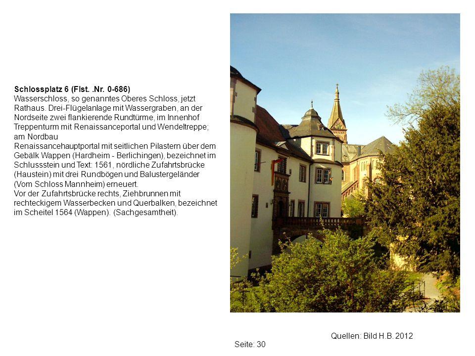 Schlossplatz 6 (Flst. .Nr. 0-686)