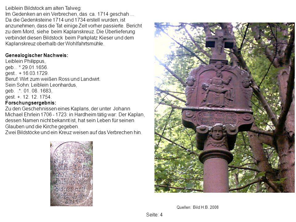Leiblein Bildstock am alten Talweg: