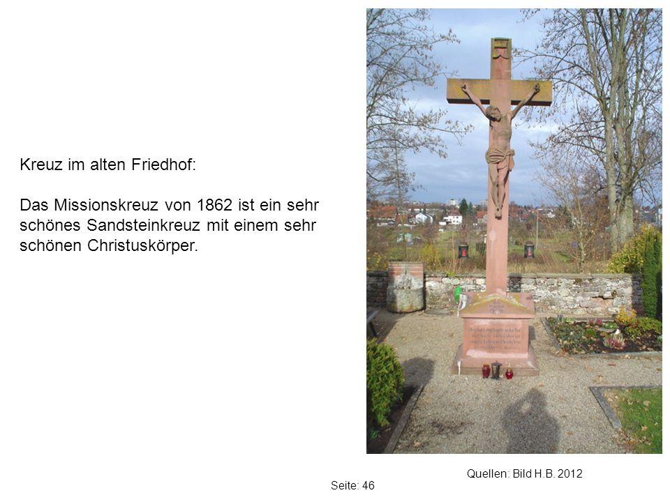 Kreuz im alten Friedhof: