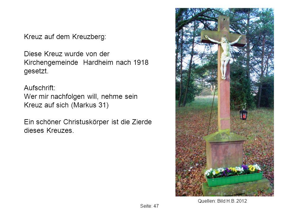 Kreuz auf dem Kreuzberg:
