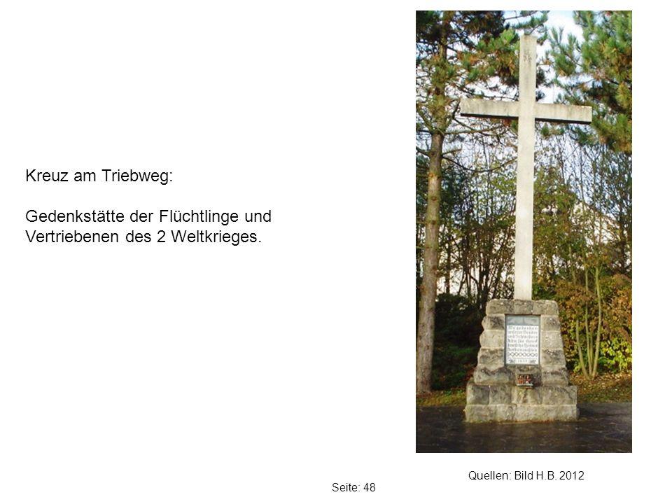 Gedenkstätte der Flüchtlinge und Vertriebenen des 2 Weltkrieges.