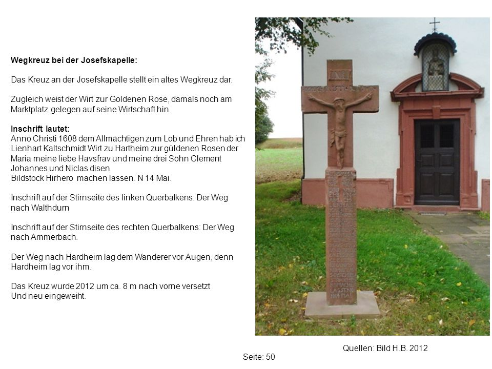 Wegkreuz bei der Josefskapelle: