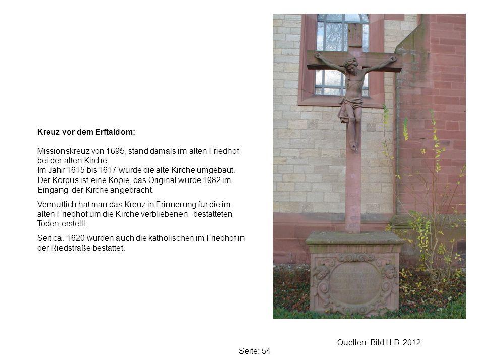 Kreuz vor dem Erftaldom: