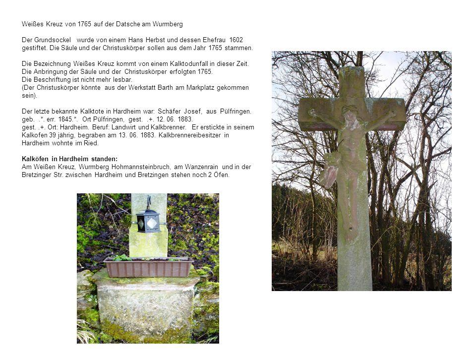 Weißes Kreuz von 1765 auf der Datsche am Wurmberg