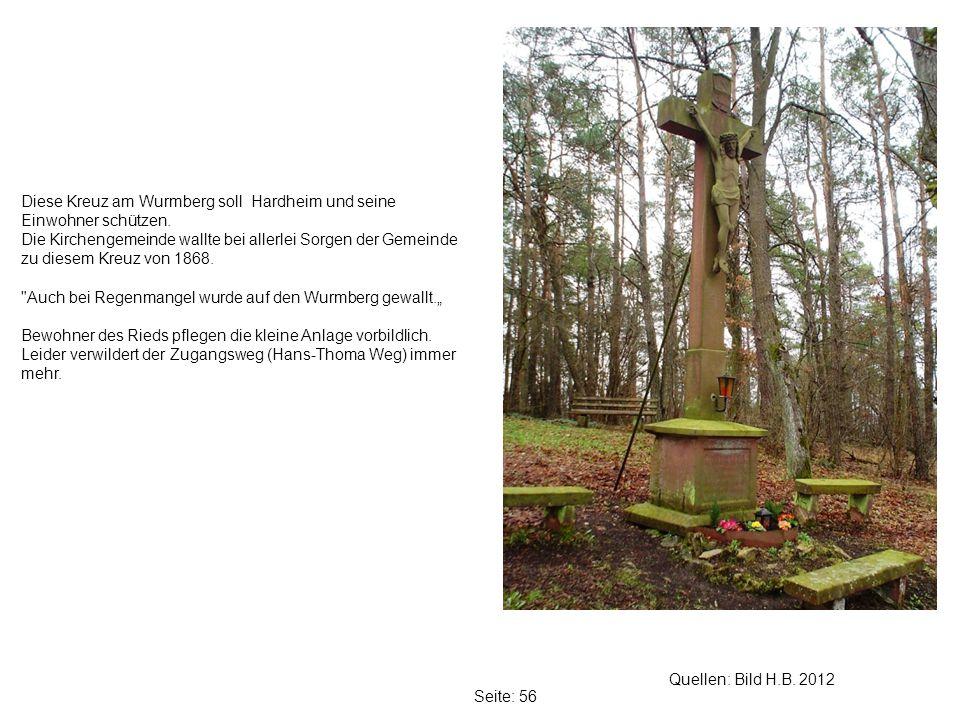 Diese Kreuz am Wurmberg soll Hardheim und seine Einwohner schützen.