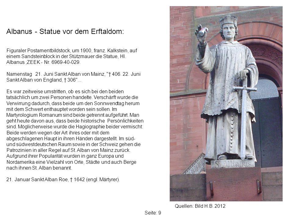 Albanus - Statue vor dem Erftaldom: