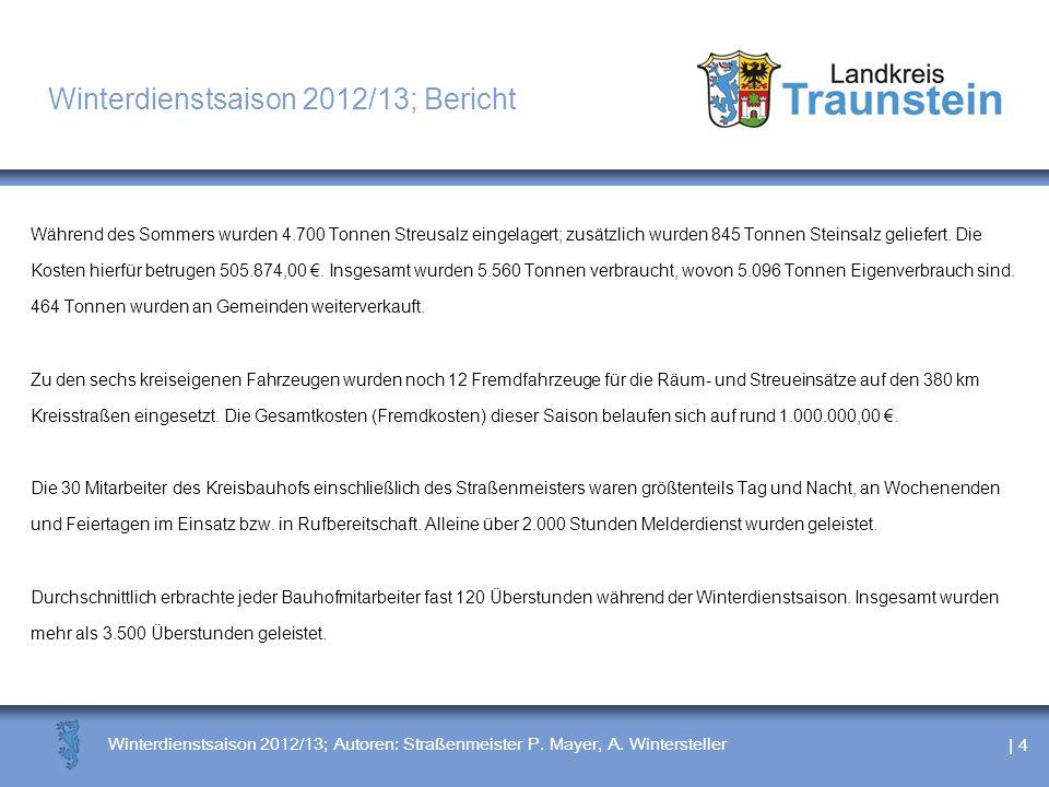 Winterdienstsaison 2012/13; Bericht