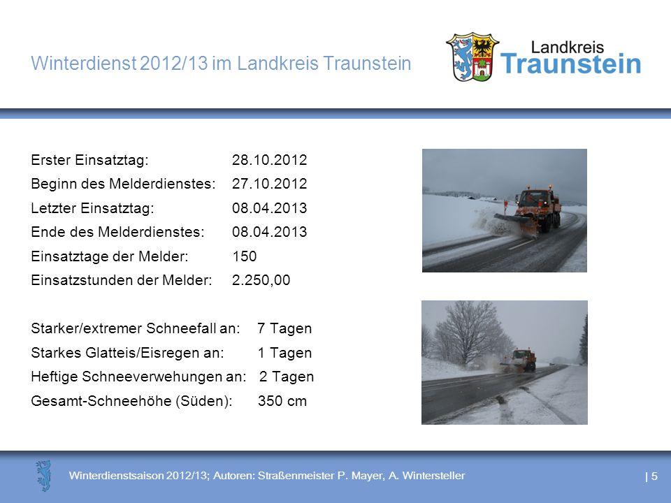 Winterdienst 2012/13 im Landkreis Traunstein