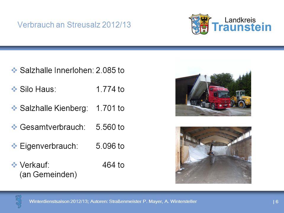 Verbrauch an Streusalz 2012/13