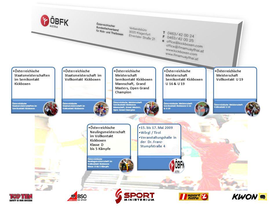 Österreichische Staatsmeisterschaften im Semikontakt Kickboxen