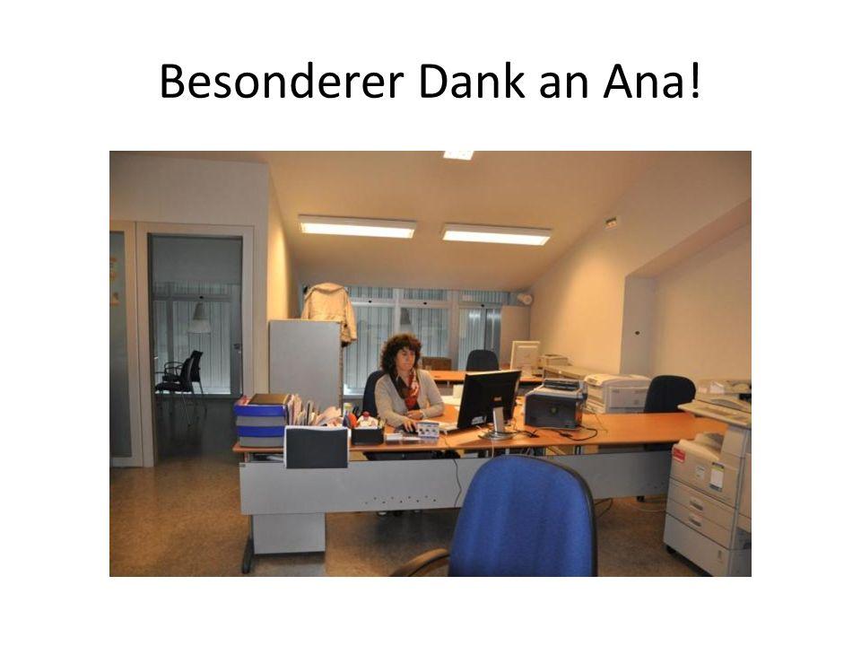 Besonderer Dank an Ana!