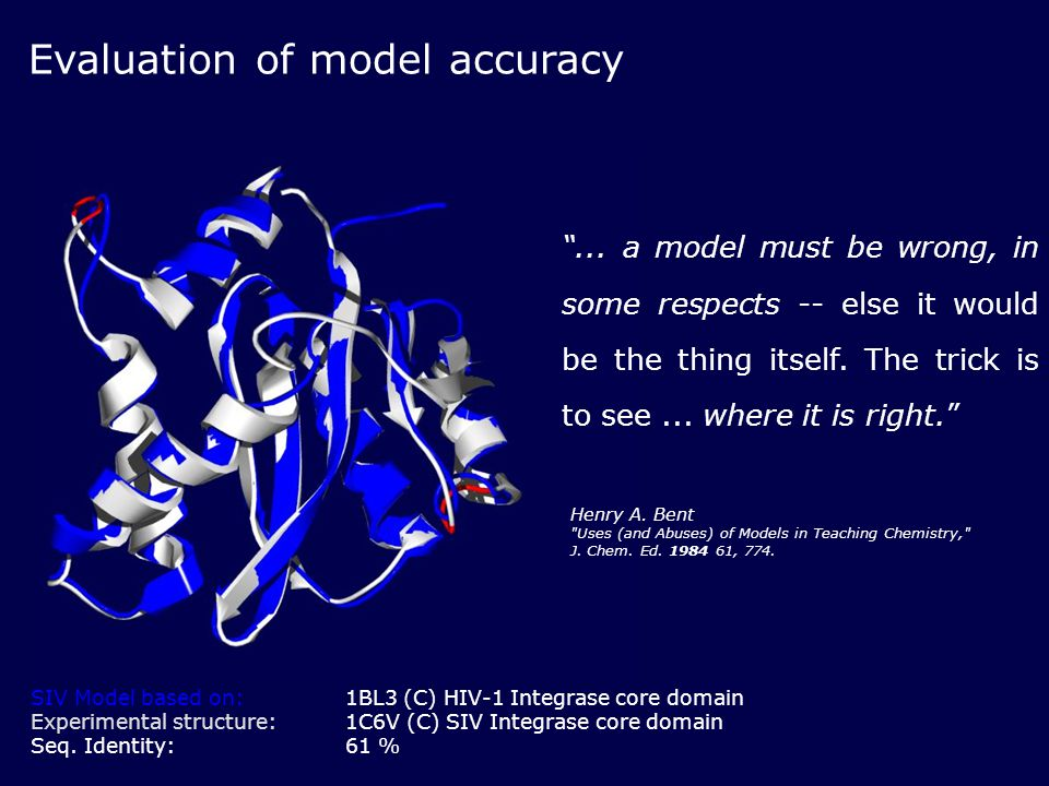 Evaluation of model accuracy