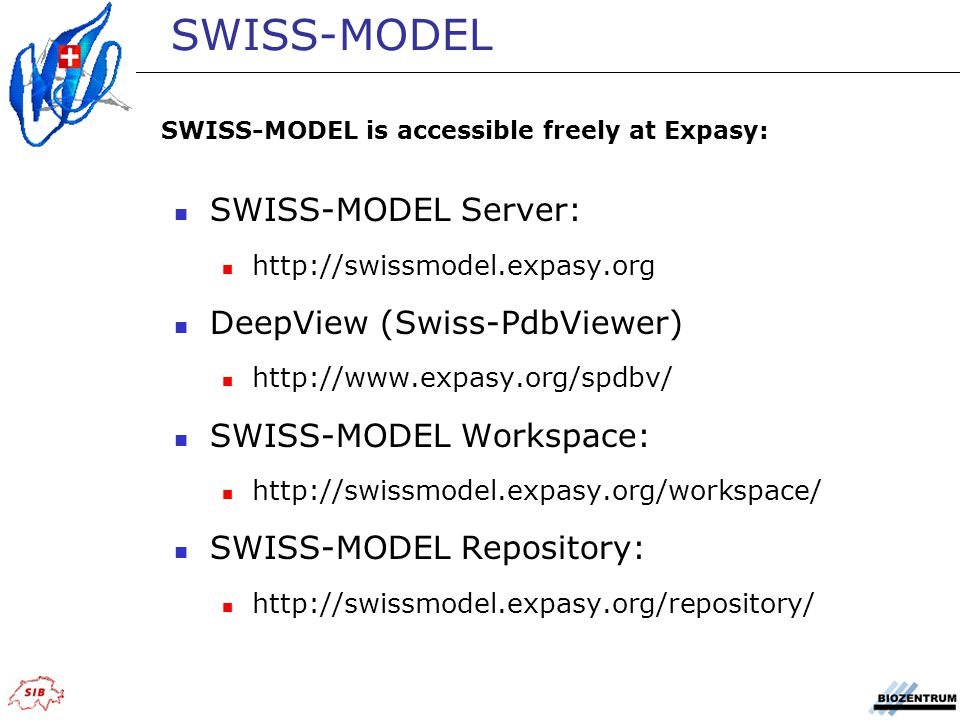 SWISS-MODEL SWISS-MODEL Server: DeepView (Swiss-PdbViewer)