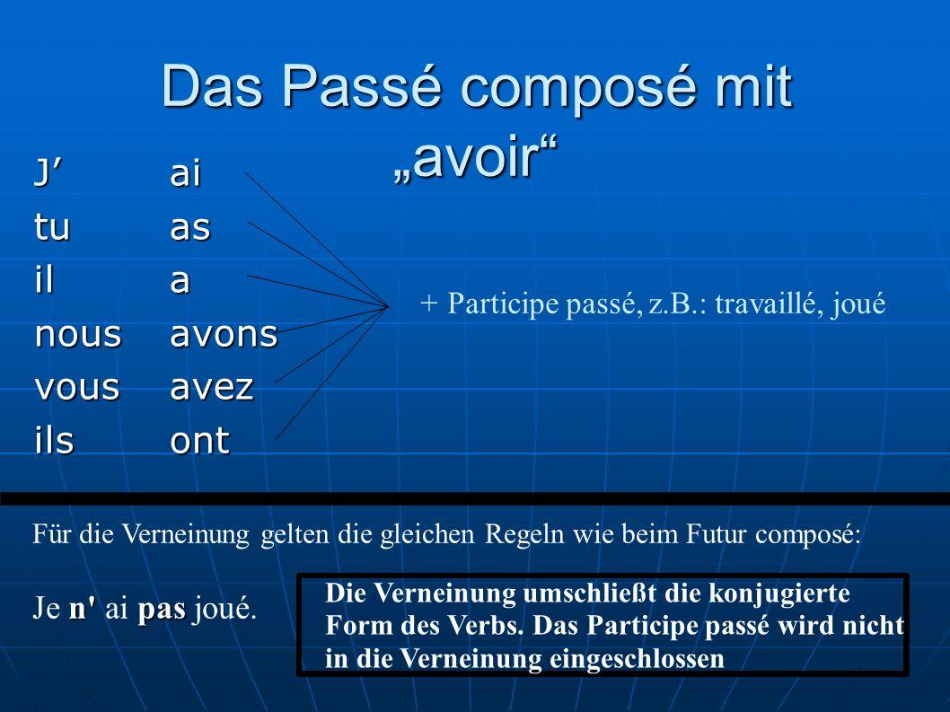 """Das Passé composé mit """"avoir"""