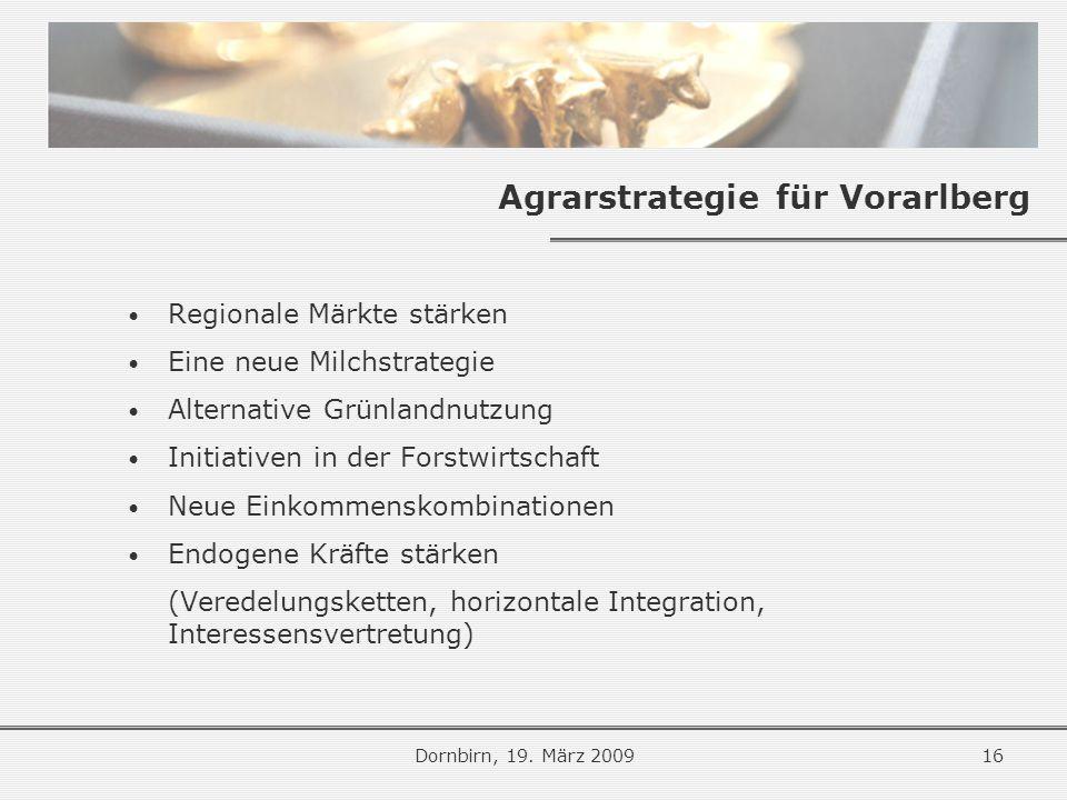 Agrarstrategie für Vorarlberg