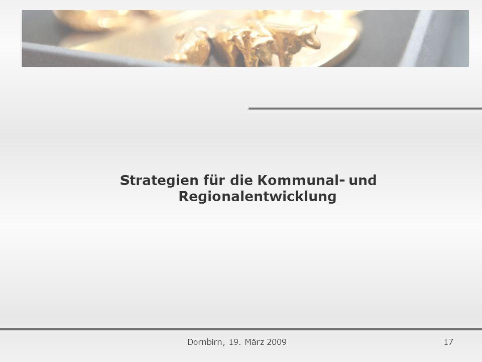 Strategien für die Kommunal- und Regionalentwicklung